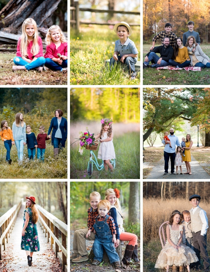 Learn more on what to wear for family pictures.