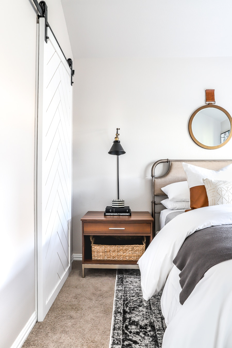 Guest bedroom refresh with the new home decor line from The Home Depot