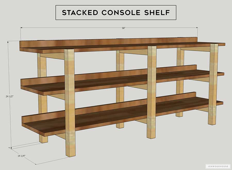 DIY Stacked Console Plans