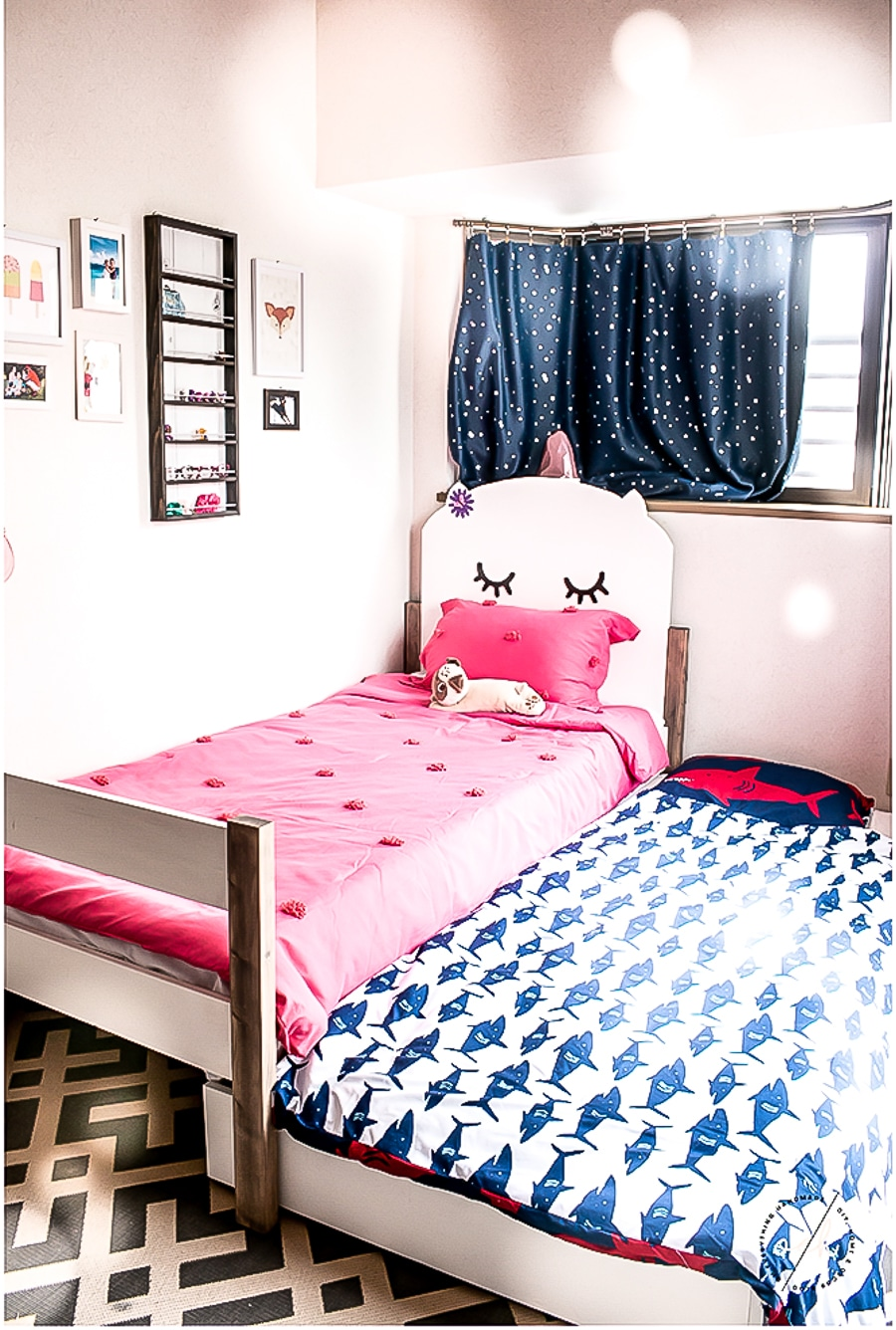 How To Make A Diy Kitty Twin Trundle Bed For Kids Sharing A