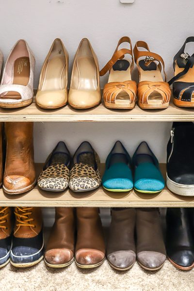 How to make an easy DIY shoe shelf organizer in 30 minutes or less