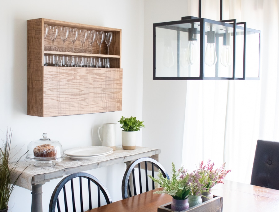 How to make a bar cabinet wall-mounted