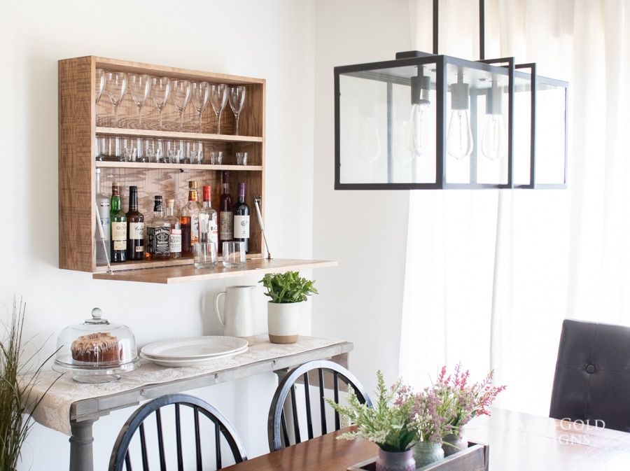 How to build a DIY bar cabinet mounted to the wall