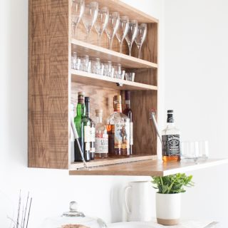 How to make a DIY wall-mounted bar cabinet