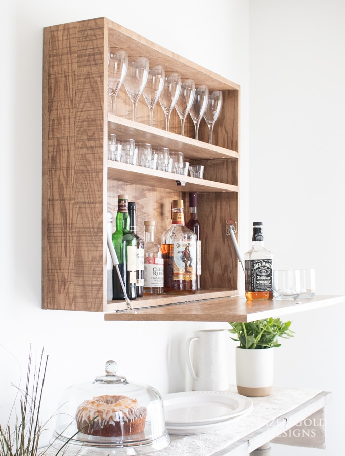 How To Build A Diy Wall Mounted Bar Cabinet