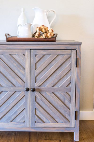How to build a DIY storage cabinet foyer console