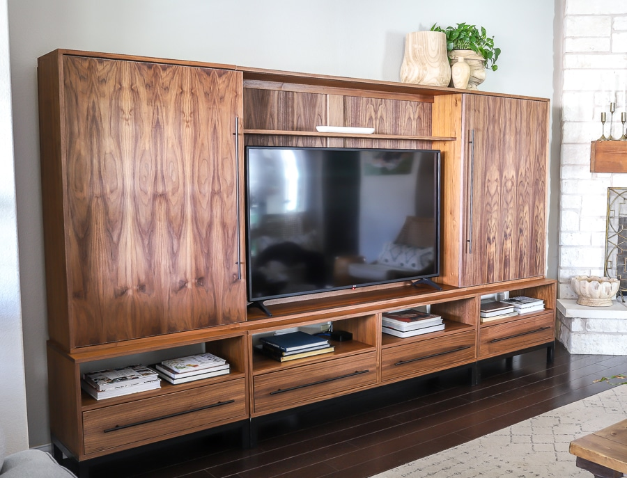How to build a DIY TV media console unit entertainment center