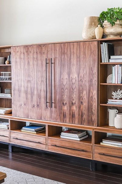 How to build a DIY entertainment center - Arhaus-inspired Sullivan Wall Unit Media Center PLANS by Jen Woodhouse