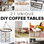 21 Unique DIY Coffee Tables Ideas and Plans