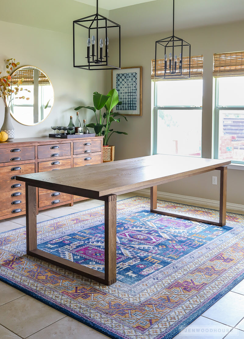 how to make a wood dining room table | 20 Gorgeous DIY Dining Table Ideas and Plans – The House ...