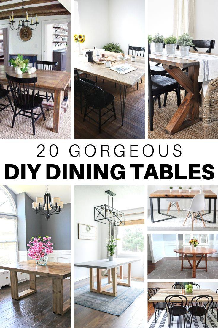 20 Gorgeous Diy Dining Table Ideas And Plans The House Of Wood