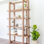 DIY Geometric Bookshelf