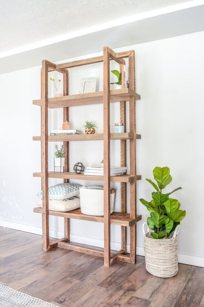 How to build a DIY geometric bookshelf