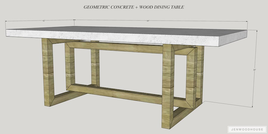 How To Make A Diy Concrete And Wood Dining Table