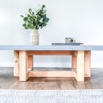 DIY Concrete and Wood Coffee Table