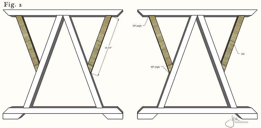 DIY trestle dining table plans