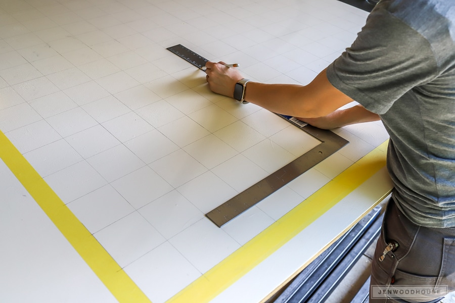 How to make a DIY giant wall scrabble board