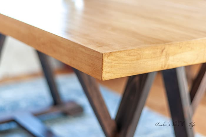 How To Build A Diy Dining Table With Angled Trestle Legs