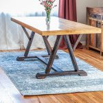 DIY Angled Trestle Dining Table