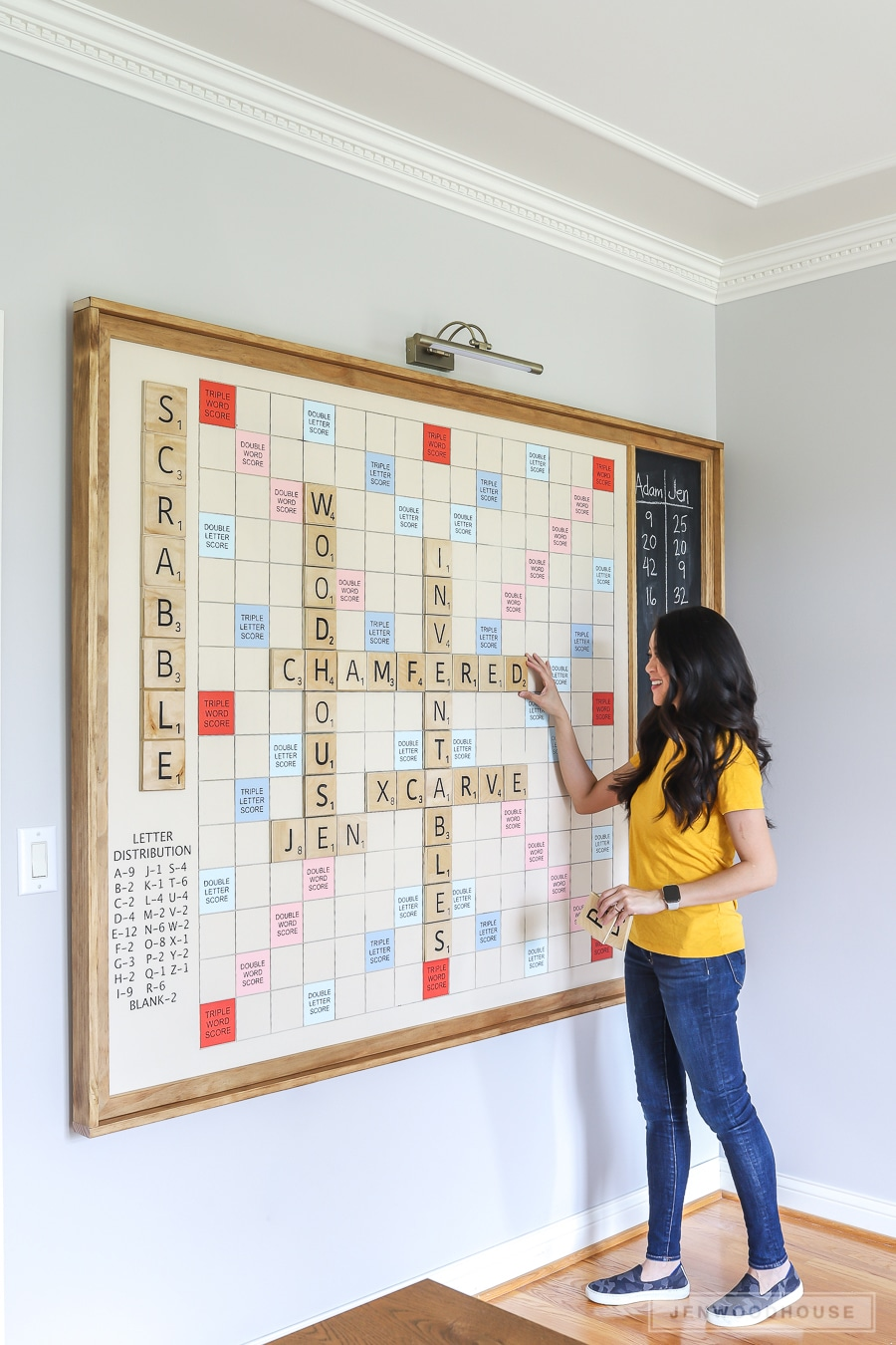 How to make a DIY giant wall scrabble game