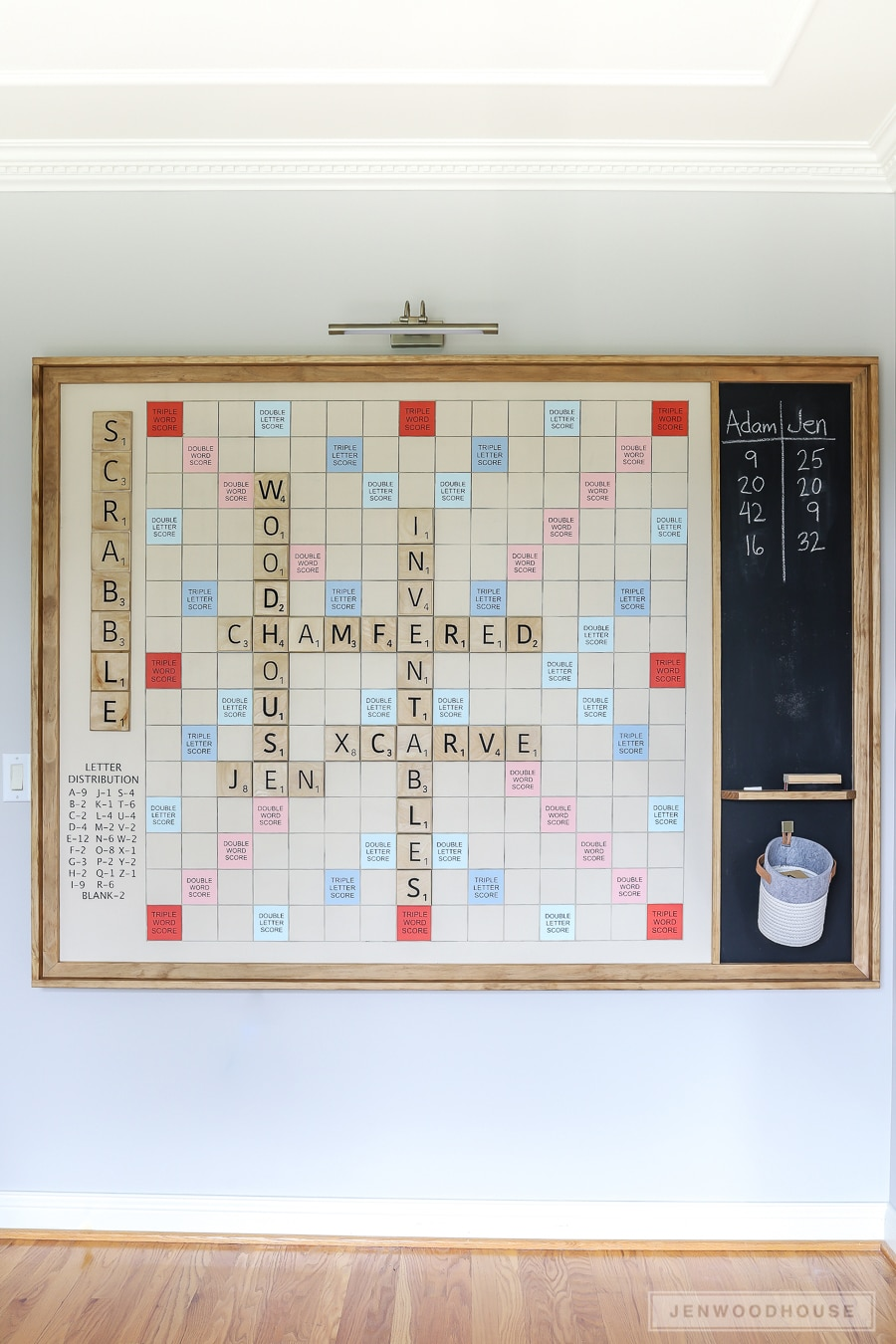 How to build an oversized Scrabble board