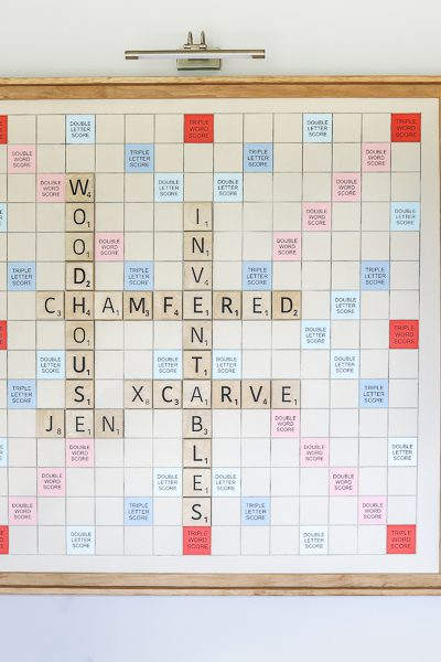 DIY Giant Wall-Mounted Scrabble Board