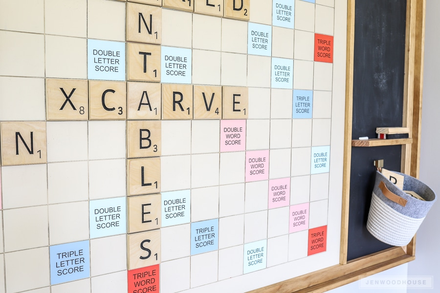 Tutorial for Giant Scrabble Game Board by Jen Woodhouse
