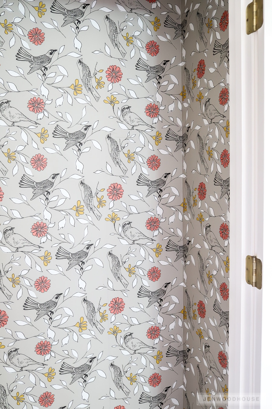 How to install wallpaper in a closet
