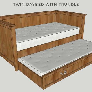 Diy Twin Daybed With Trundle Free Plans By Jen Woodhouse