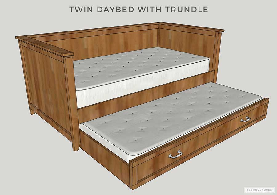 Diy Twin Daybed With Trundle Bed Free Plans