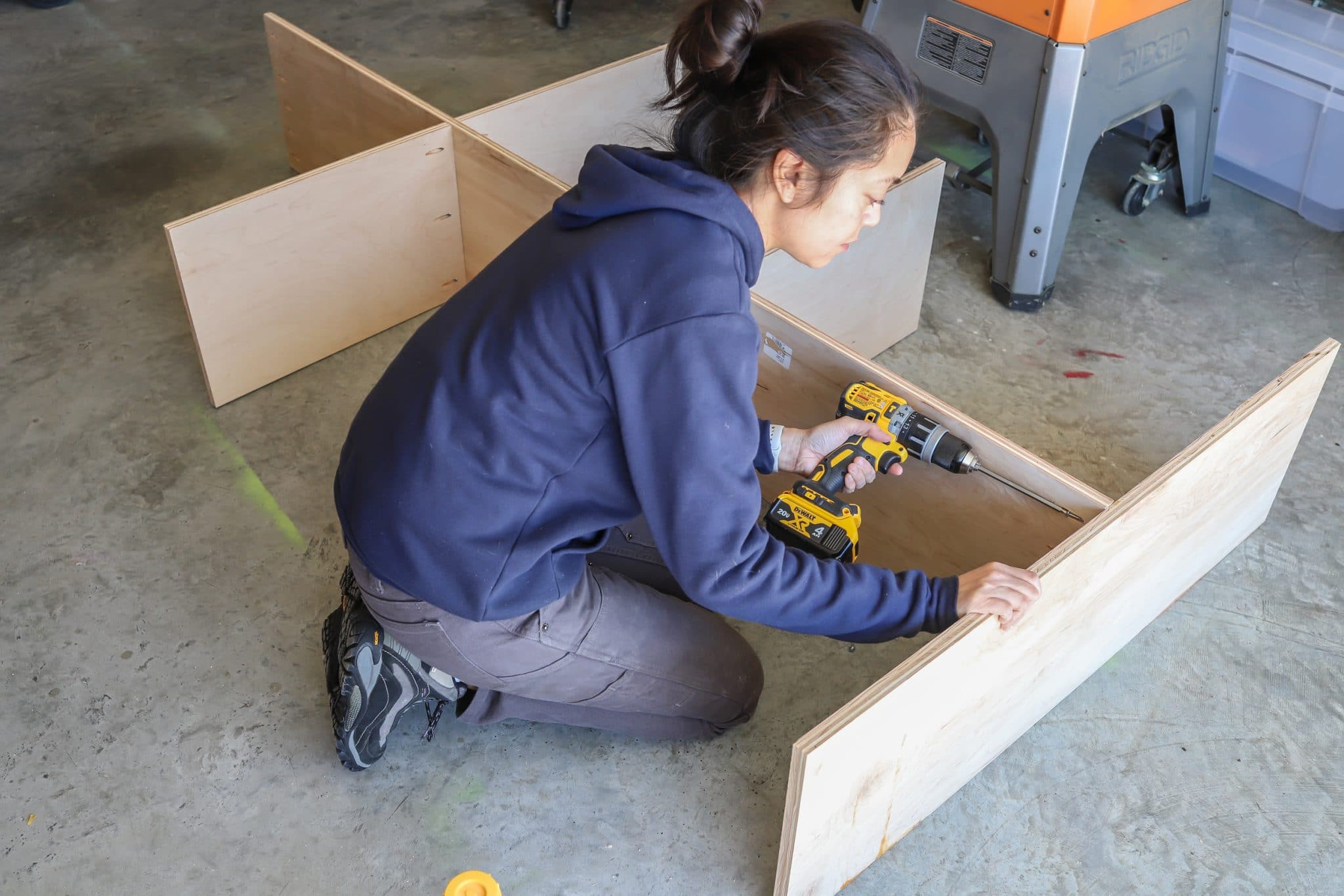 How to build a DIY Kids House Bed with Storage Drawers