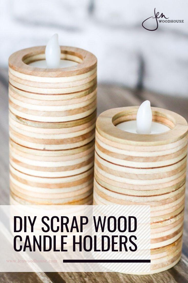 Diy Scrap Plywood Tea Light Candle Holders