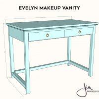 DIY Makeup Vanity Plans