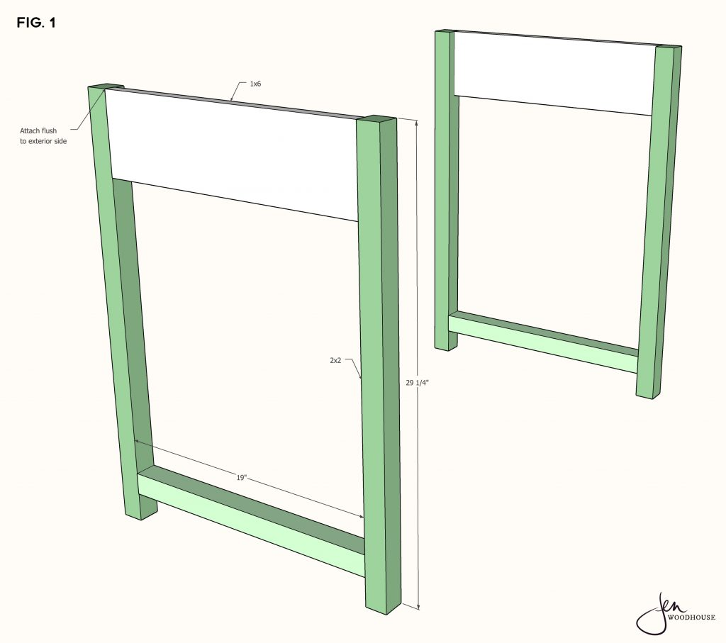 plans for a diy makeup vanity desk