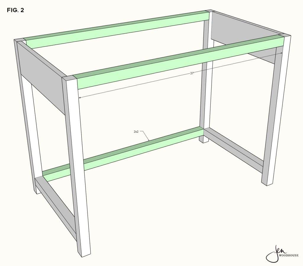 How to build a DIY makeup vanity desk table
