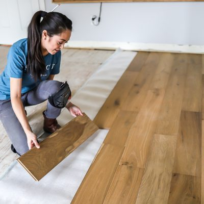 How to install click lock engineered hardwood flooring