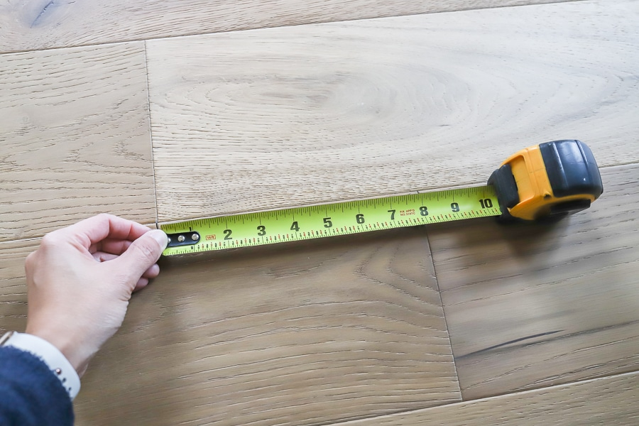 Stagger seams when installing hardwood flooring