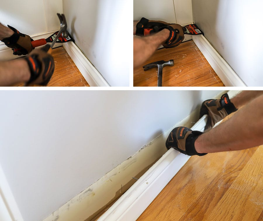 How to remove baseboards the easy way!