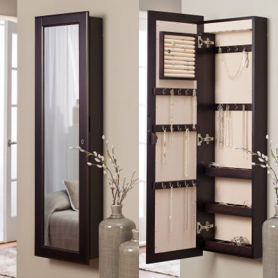 Full length mirror armoire
