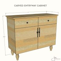 Carved Entryway Cabinet Plans