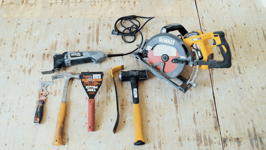 Tool supply list for removing hardwood floors