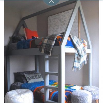 Toddler house bunk bed