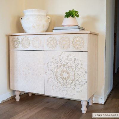DIY Carved Entryway Cabinet