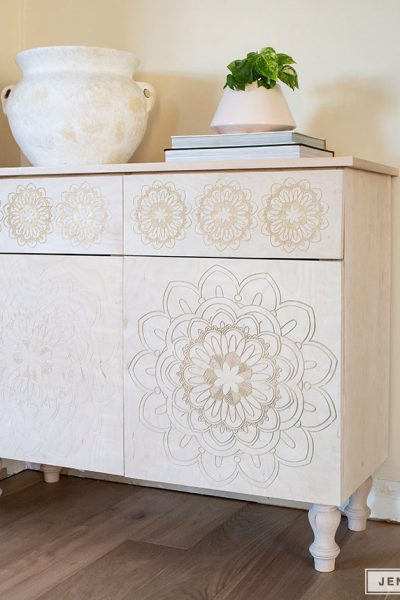 How to build a DIY carved entryway cabinet