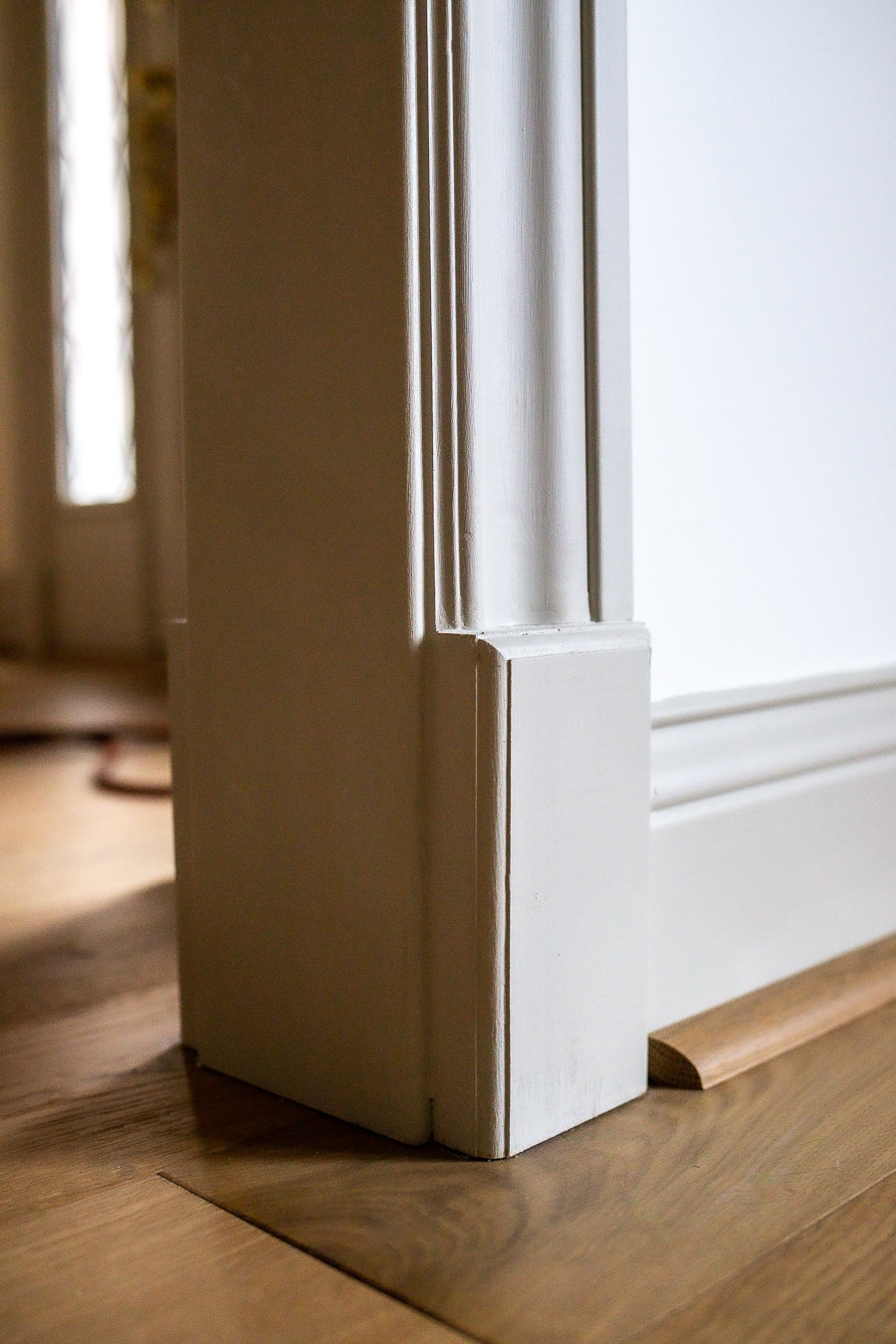 Add architectural detail with a plinth block