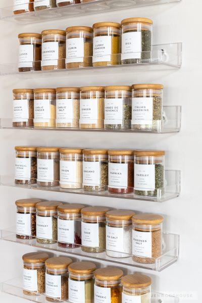 Spice rack organization ideas