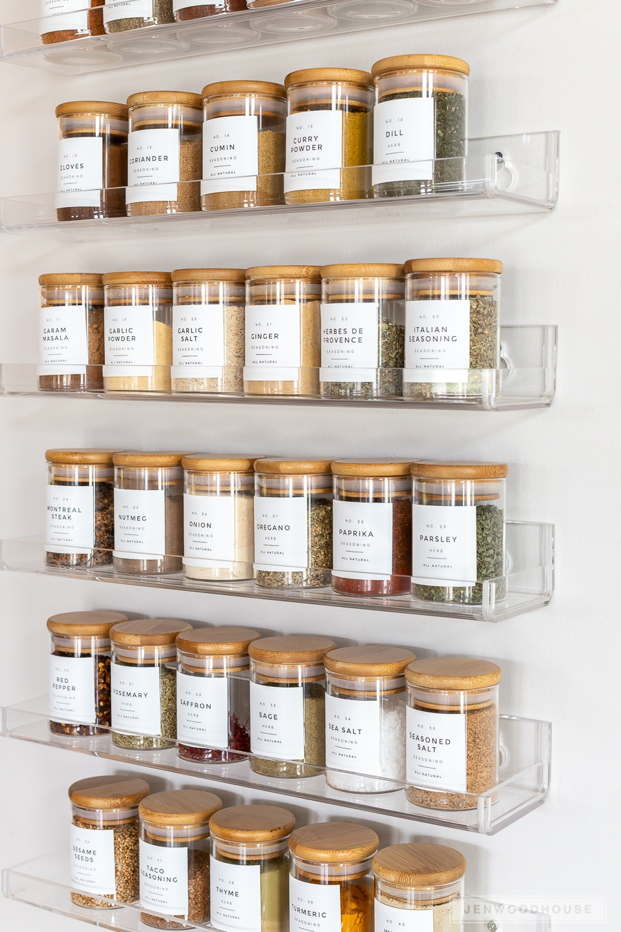 Spice rack organization ideas