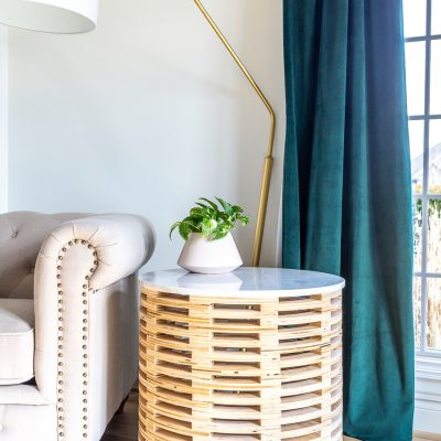 Learn how to make a DIY stacked side table out of plywood using a CNC machine!