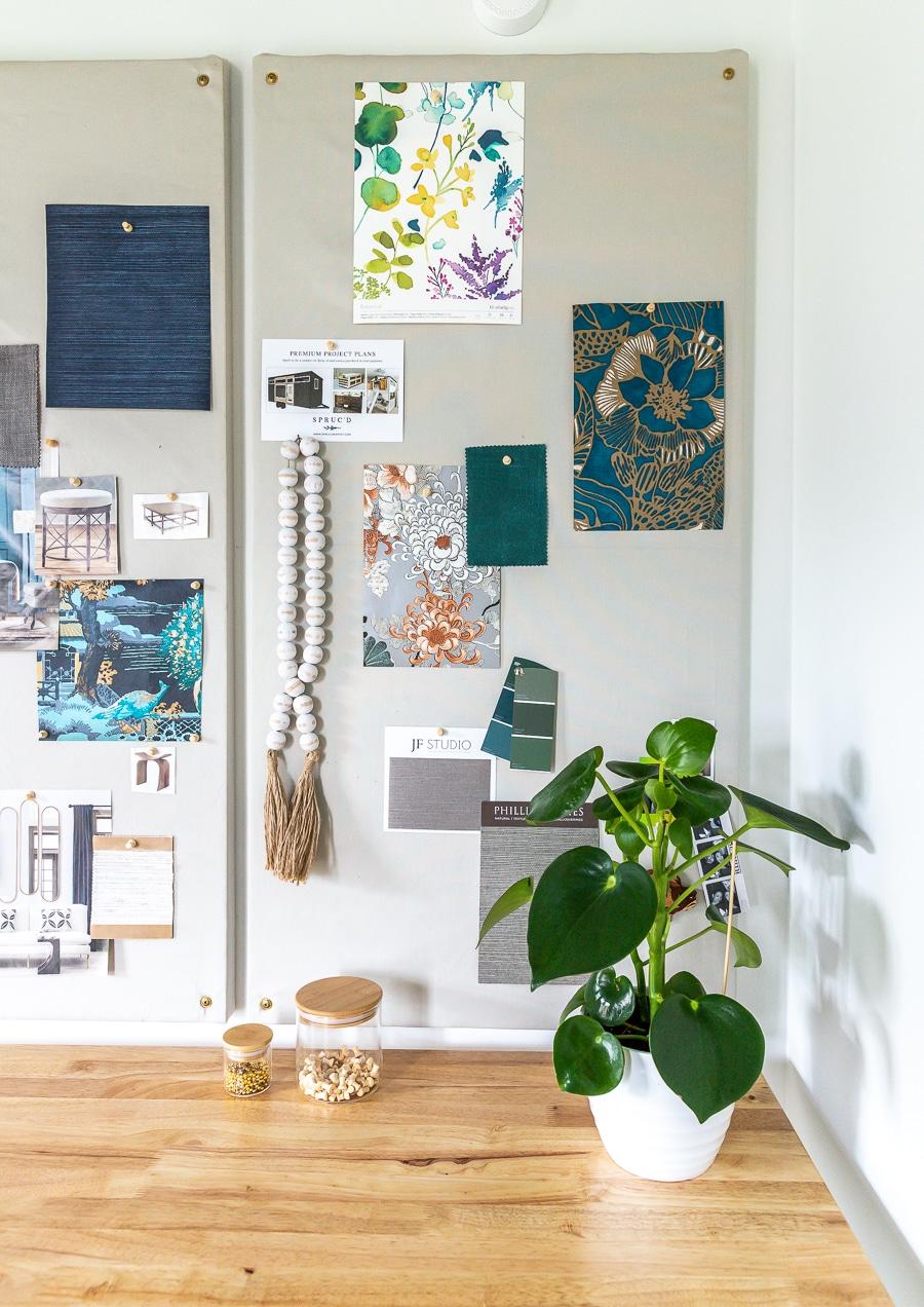 How to make an easy DIY fabric bulletin board design board inspiration pin board