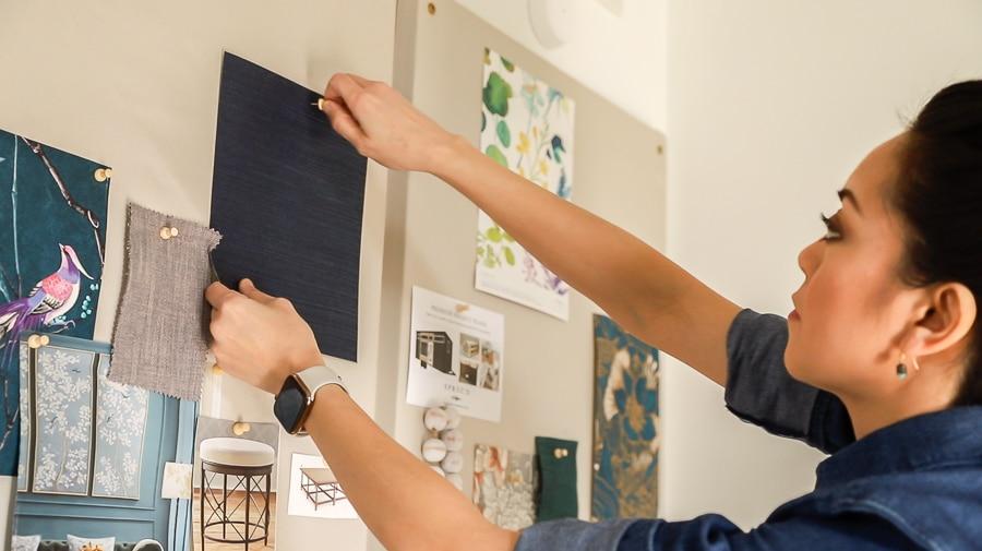 How to make a DIY fabric bulletin board pinboard design board